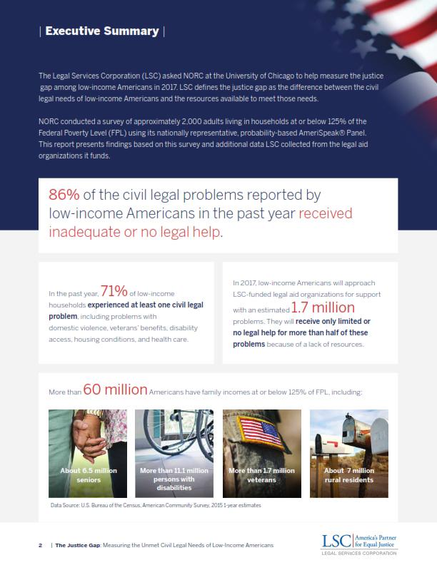 Justice Gap Report Executive Summary