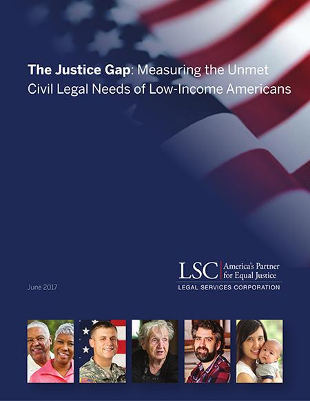 Justice Gap Report Cover